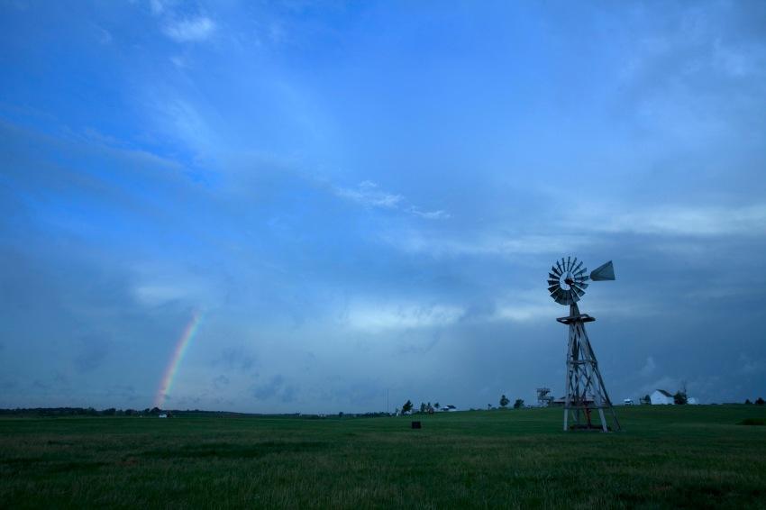 Sunrise rainbow at the Ingalls Homestead