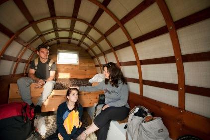 Jordan, Brenna and Karen, post-wagon slumber