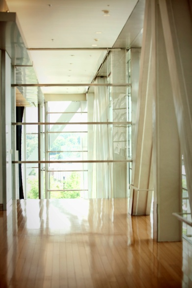 Bright and airy inside.
