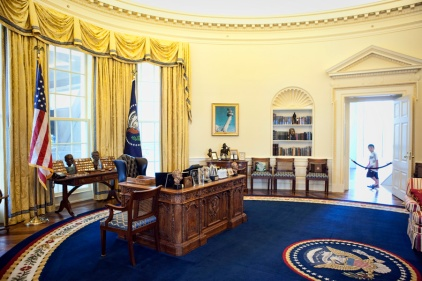 A replica of the Oval Office.