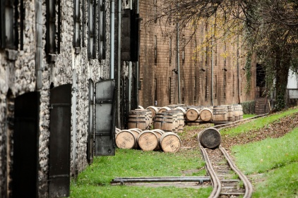 barrels waiting to be racked