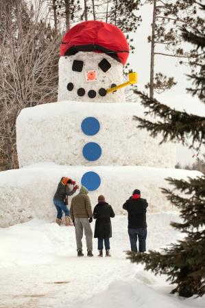 biggest snowman I've ever seen